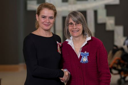 Kathy Lucking and the Governor General, Her Excellency the Right Honourable Julie Payette.