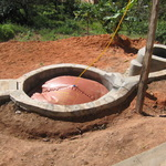 the bio-digester built by the Anglican Church at the orphanage Akany Famonjena, that we hope to copy.